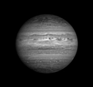 Jupiter in H-Band with a Ninox